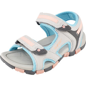 Hi-Tec GT Strap Chaussures Enfant, cool grey/curacou blue/ papaya punch